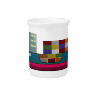 Container Ship Drink Pitcher