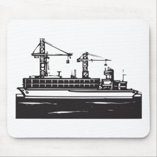 Container Ship Mouse Pad