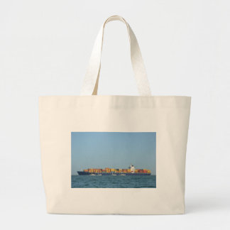 Container Ship Northern Dignity Large Tote Bag
