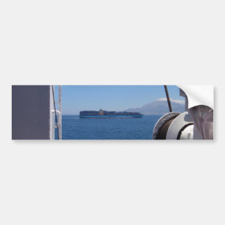 Container Ship Off Morocco Bumper Sticker