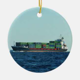 Container Ship Christmas Ornaments