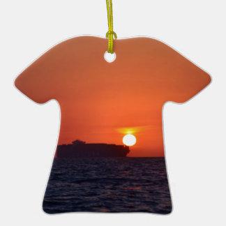 Container Ship Sunset Ceramic T-Shirt Decoration