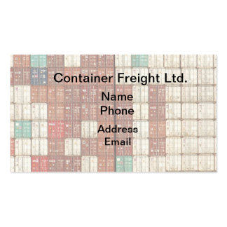 Container Shipping and Freight Business Card Templates