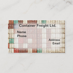 Shipping container business cards templates zazzle container shipping and freight business card colourmoves