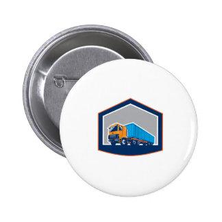 Container Truck and Trailer Shield Retro Pinback Button