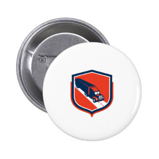 Container Truck and Trailer Shield Retro Buttons