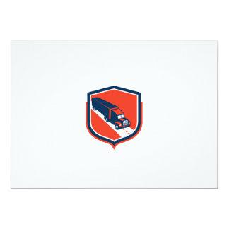 Container Truck and Trailer Shield Retro 5x7 Paper Invitation Card