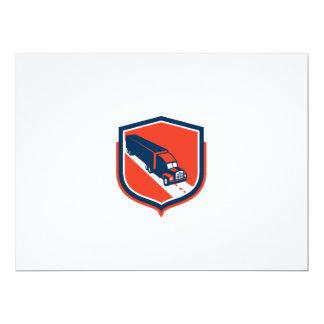 Container Truck and Trailer Shield Retro 6.5x8.75 Paper Invitation Card