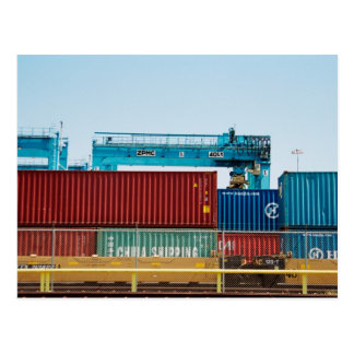 Containers in Port Postcard