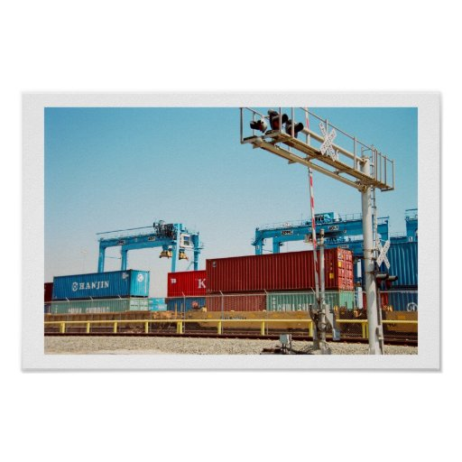 Containers in Port Posters