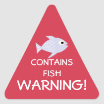 Contains Fish Allergy Alert Stickers