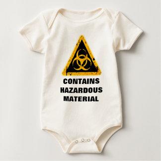 CONTAINS HAZARDOUS MATERIAL. BABY BODYSUIT