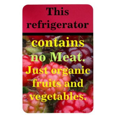 Contains No Meat Rectangular Photo Magnet