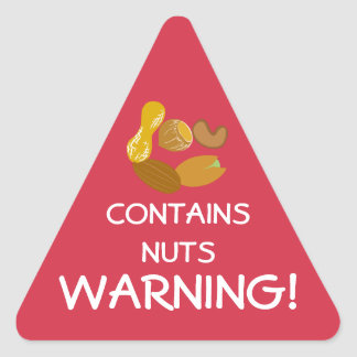 Contains Nuts Food Allergy Alert Stickers
