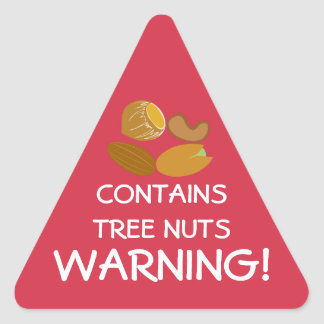 Contains Tree Nuts Food Allergy Alert Stickers