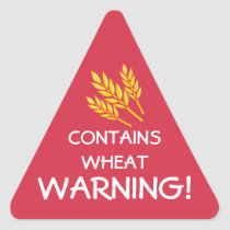 Contains Wheat Gluten Food Allergy Alert Stickers