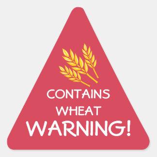 Contains Wheat Gluten Food Allergy Alert Stickers