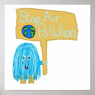 Contaminación atmosférica de la parada del trullo impresiones
