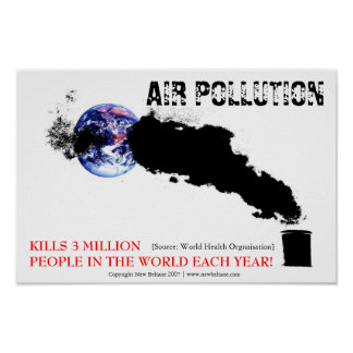 Contaminación atmosférica posters