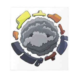 contaminación blocs de papel