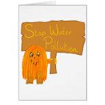 contaminación de agua anaranjada de la parada felicitaciones