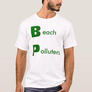 Contaminadores de la playa - necesitamos boicotear playera