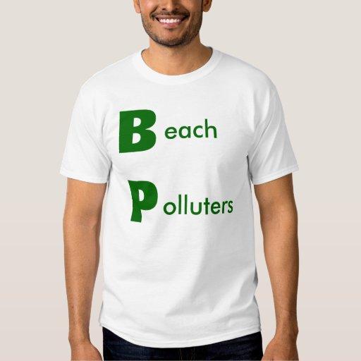 Contaminadores de la playa - necesitamos boicotear playeras