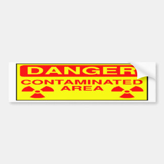 Contaminated Area Bumper Sticker Car Bumper Sticker
