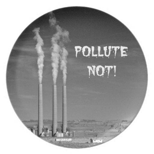 ¡Contamine no! Plato