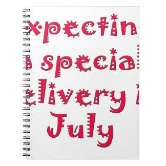 Contando con una entrega especial en julio libreta espiral
