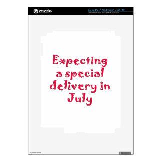 Contando con una entrega especial en julio pegatinas skins para iPad 3
