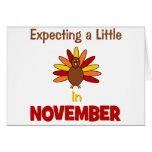¡Contando con una pequeña Turquía en noviembre! Tarjeton
