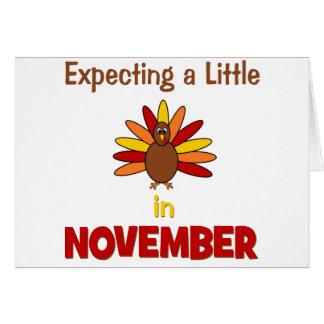 ¡Contando con una pequeña Turquía en noviembre Tarjeton