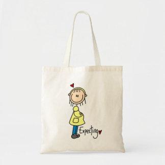 Contar con las camisetas y los regalos del bebé bolsa lienzo