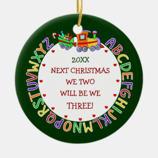 Contar con los 1ros ornamentos de los regalos del adorno navideño redondo de cerámica