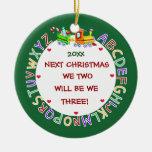 Contar con nuestro 1r Bebé-Navidad Ornamento De Reyes Magos