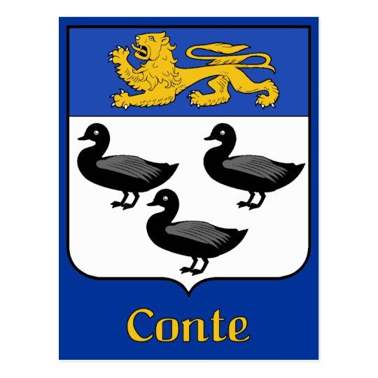 Conte Family Shield Postcard