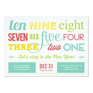 Contemos abajo de la invitación del fiesta de invitación 12,7 x 17,8 cm