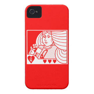 Contemp. Queen of Hearts Blackberry Case (lt & rd)