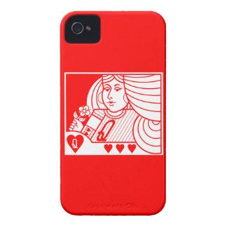 Contemp. Queen of Hearts Blackberry Case (lt & rd)