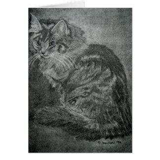 Contemplating Cat Card