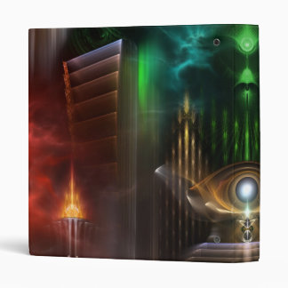 Contemplating Oz Fractal Art Binder
