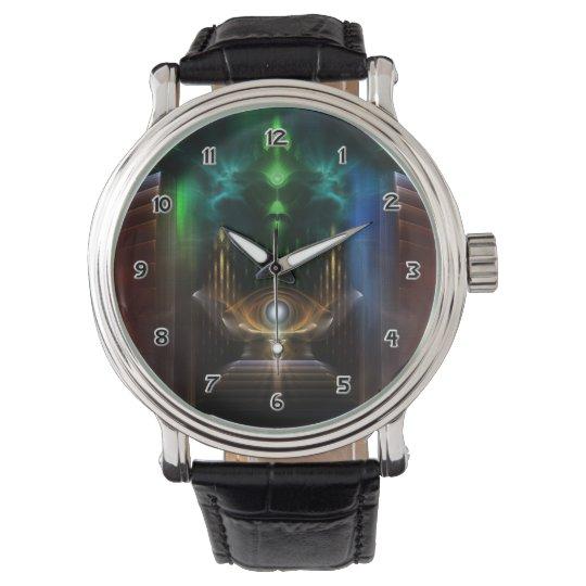 Contemplating Oz Fractal Art Wrist Watch