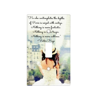 Contemplating Paris Switch Plate Covers