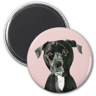 """""""Contemplating"""" Pit Bull Dog Painting Magnet"""