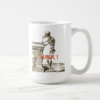 Contemplating Skeleton - THINK ! Mug