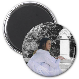 Contemplating the Afterlife 2 Inch Round Magnet