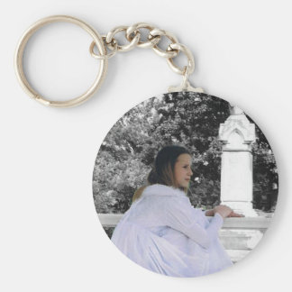Contemplating the Afterlife Basic Round Button Keychain