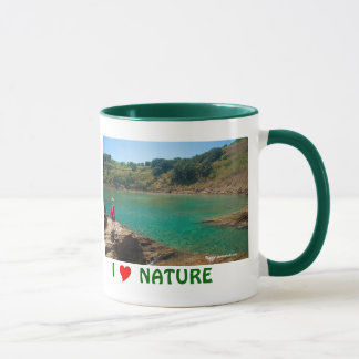 Contemplating the lagoon mug
