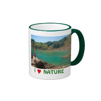 Contemplating the lagoon ringer mug